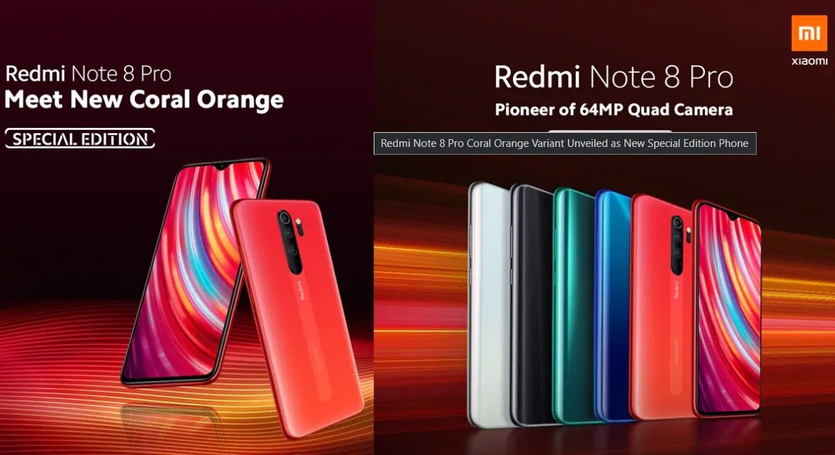 Redmi Note 8 Pro Coral Orange